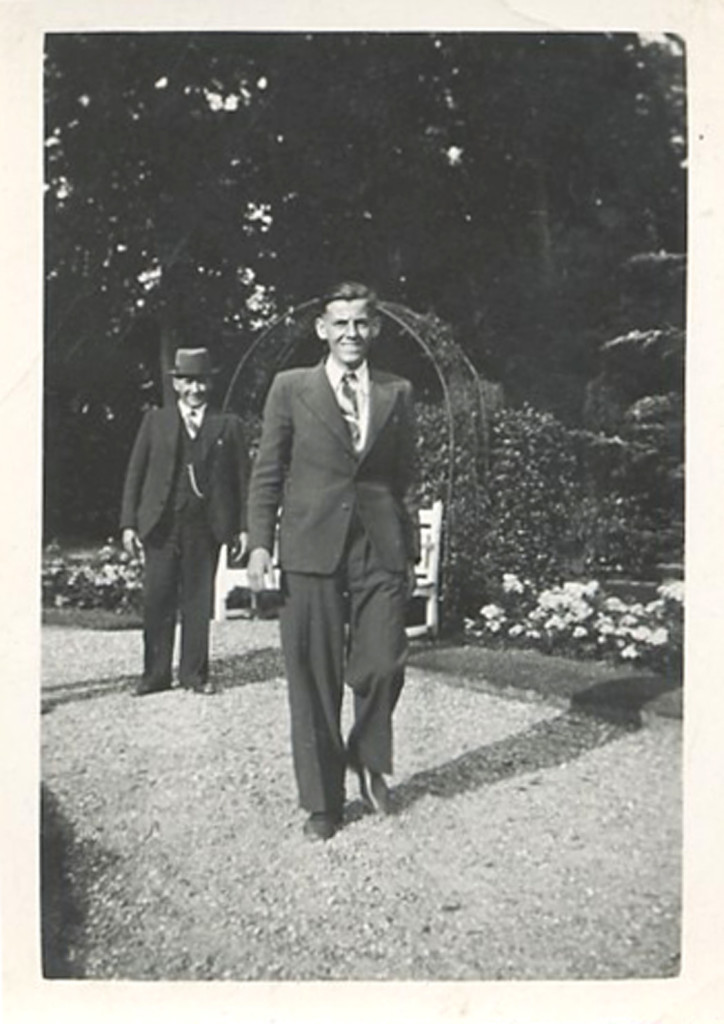 Wim with Opa at the estate of Kaiser Wilhelm