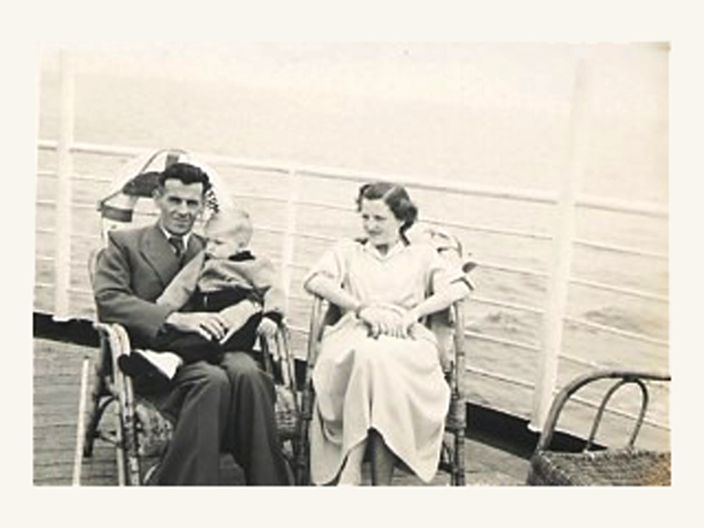 953 - 14 June - Wim & Mariet with Paul on the deck of the SS Waterman