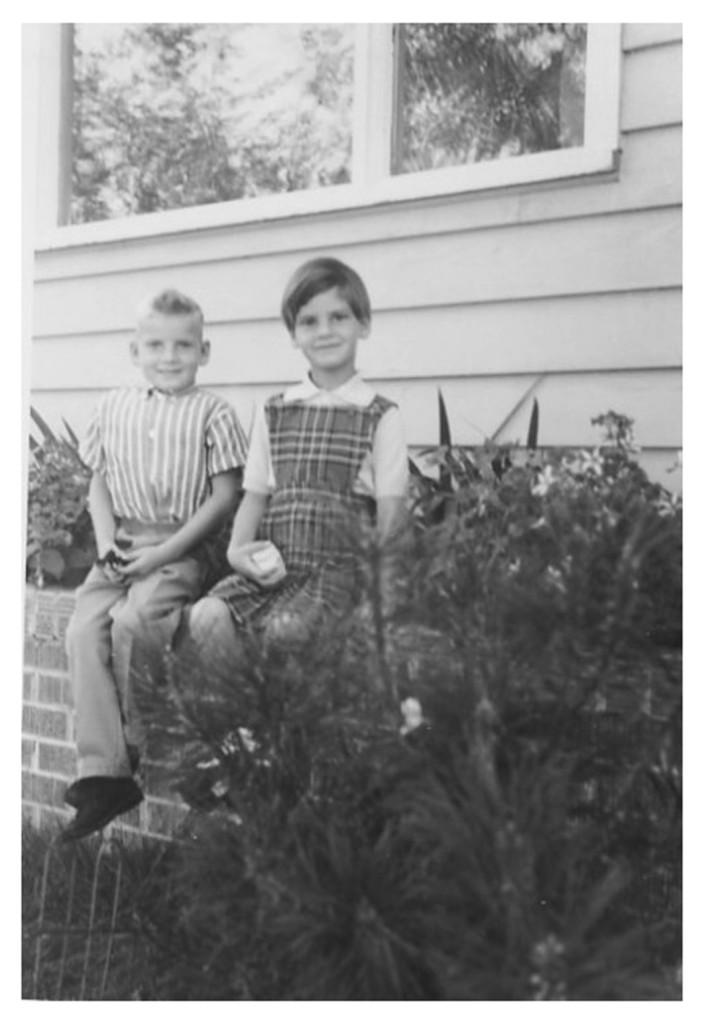 1966 - Mike & Charlotte outside 512-5th St., Saskatoon